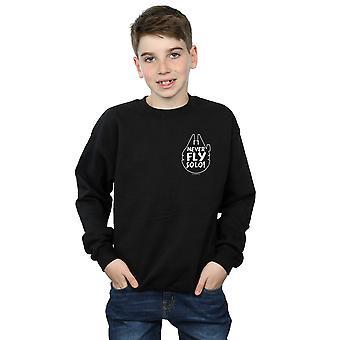 Star Wars Boys Never Fly Solo Sweatshirt