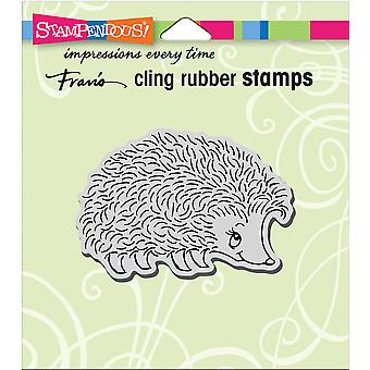 Stampendous Cling Stamp-Happy Hedgehog