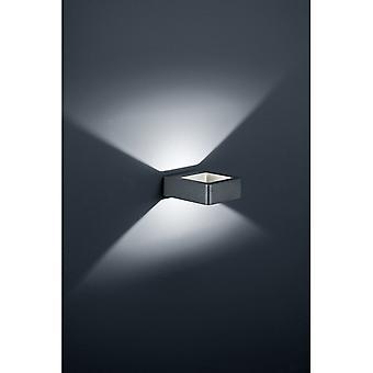 Трио, освещение Рено современные антрацит Diecast алюминия настенный светильник