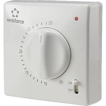 Renkforce TR-93 Indoor thermostat Surface-mount 24 h mode 5 up to 30 °C