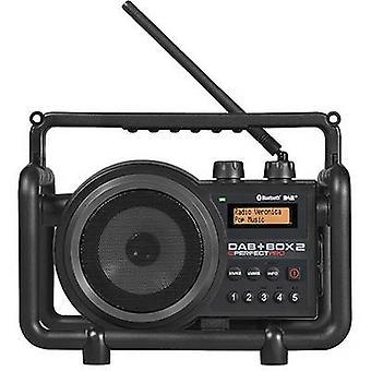 PerfectPro DAB+ Box 2 DAB+ Baustellenradio AUX, Bluetooth, DAB+, FM splashproof, dustproof, shockproof Black