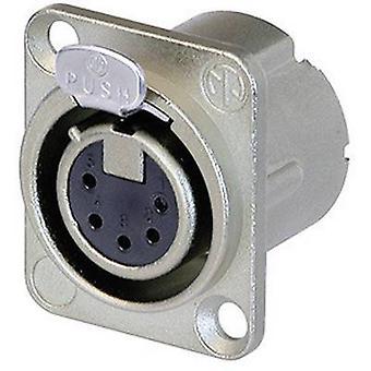 XLR connector Sleeve socket, straight pins Number of pins: 5 Silver Neutrik NC5FD-LX 1 pc(s)