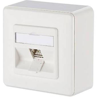 Metz Connect Network outlet Surface-mount CAT 6A 1 port Pure white