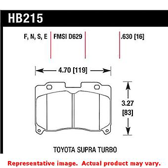 Hawk 'Performance Street' Brake Pads HB215N.630 Fits:TOYOTA 1993 - 1998 SUPRA T
