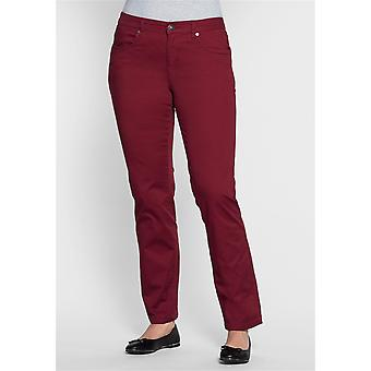 abdulgaffar straight cotton pants long size large Bordeaux