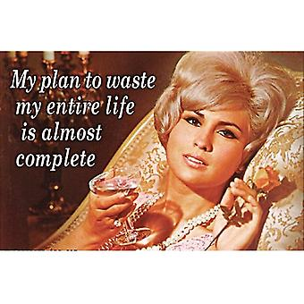 Mein Plan, mein ganze Leben zu verschwenden... Lustige Kühlschrank-Magnet