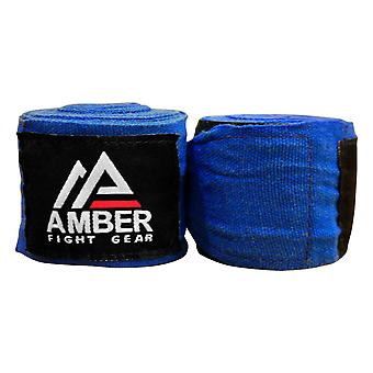 Amber Fight Gear Mexican Style 200in Elastic Handwraps Mexican Style Elastic Handwraps, Black