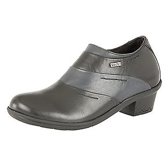 Mod Comfys Womens/Ladies Side Zip Dual Fitting Water Resistant Leather Ankle Shoes