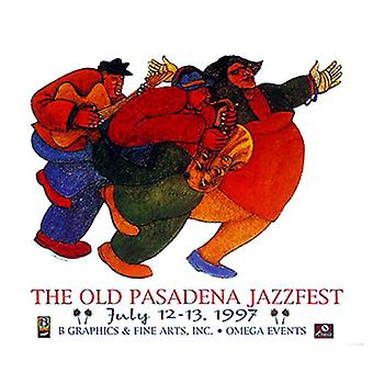 Impressão de cartaz Jazz mo por Charles Bibbs (32 x 28)