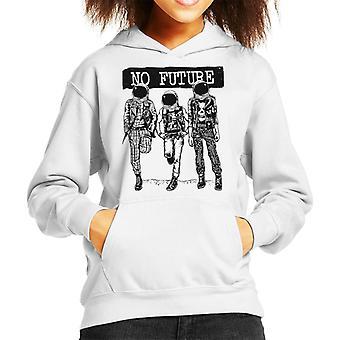 No Future Punk Astronauts Kid's Hooded Sweatshirt