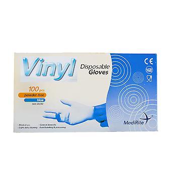 MediRite Pulver frei klare mittlere Einweg-Vinylhandschuhe