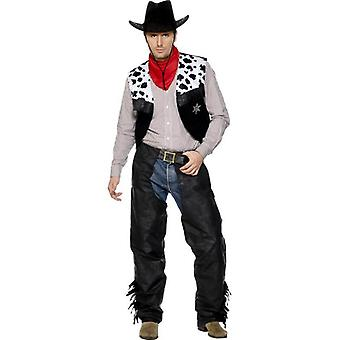 Cowboy Leather Costume, Chest 38