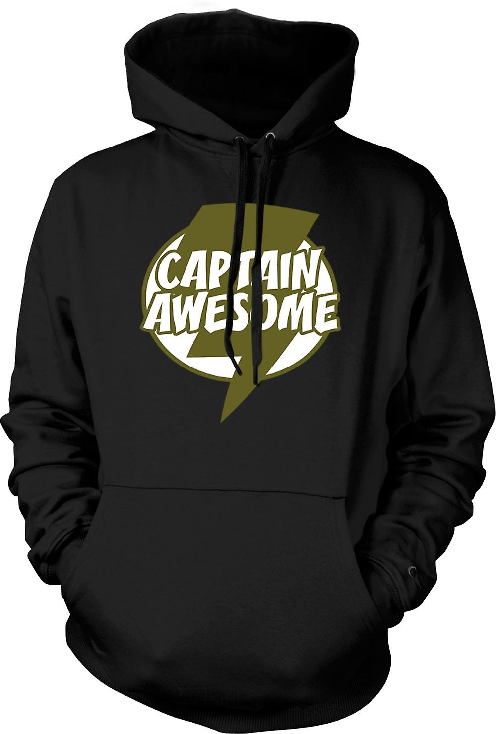 Mens Hoodie - Captain Awesome - Funny