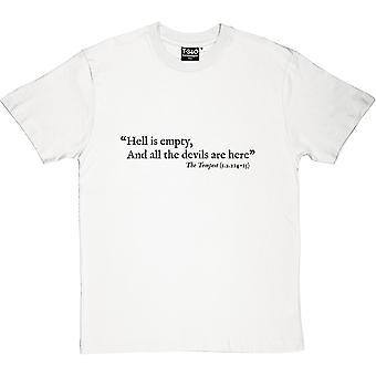 Шекспир ад является пустой цитатой Мужская футболка