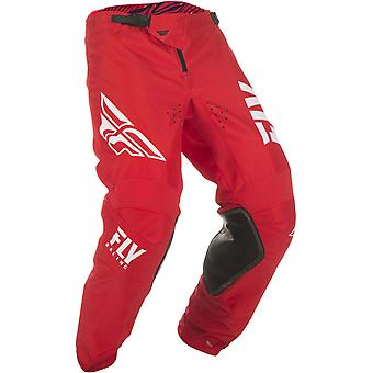 Fly Racing Red-White 2019 Kinetic Shield MX Pant
