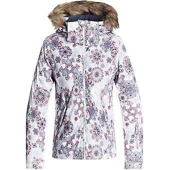 Roxy Bright White-Snowflakes Jet Girls Ski Jacket