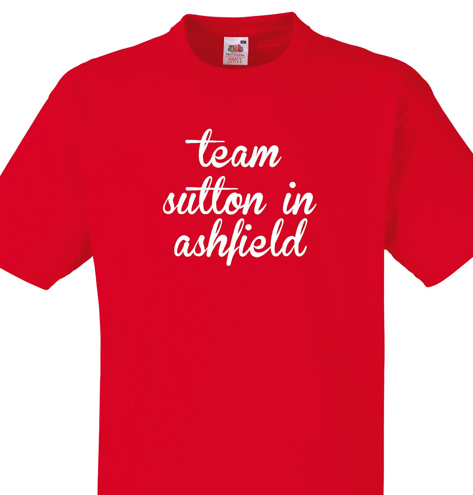 Team Sutton in ashfield Red T shirt