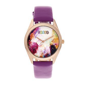 Crayo Graffiti Unisex Watch - Rose Gold/Purple
