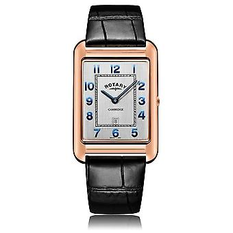 Rotary | Gents Black Leather Strap | Rose Gold Case | GS05284/70 Watch