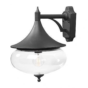Konstsmide Matt zwart Aluminium weegschaal traditionele neerwaartse wandlamp