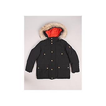 Belstaff Grove Fur Trim Hooded Coat