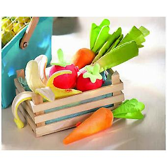 HABA - Play Food Crate with Fabric Fruit and Vegetables 3818