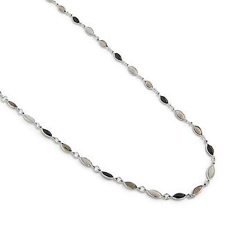 PEARLS FOR GIRLS jewelry romantic ladies necklace with glass beads silver
