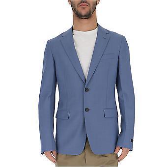 Prada Light Blue Wool Blazer