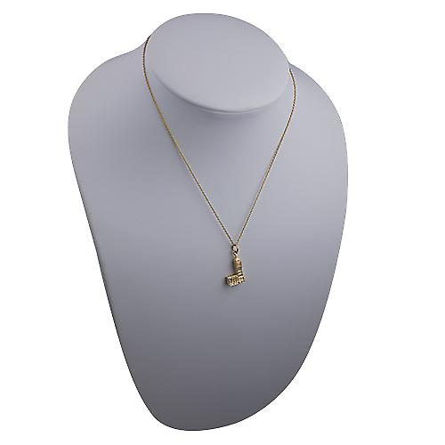 9ct Gold 20x11mm Big Ben Pendant with a cable Chain 16 inches Only Suitable for Children
