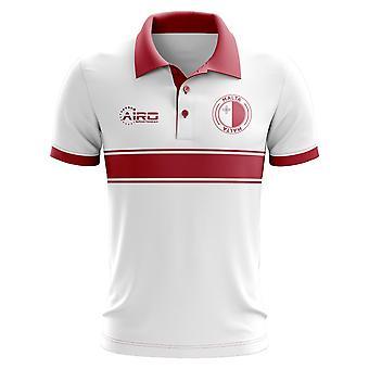 Malta Concept Stripe Polo skjorte (hvid)-børn