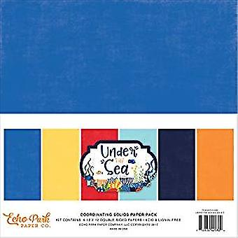 Echo Park Paper Under The Sea 12x12 Inch Coordinating Solids Paper Pack (US131060)