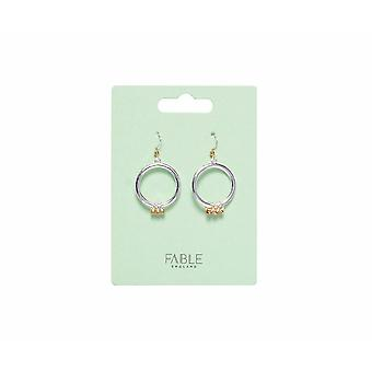 Fable Womens/Ladies Two Tone Ring Dangle Earrings