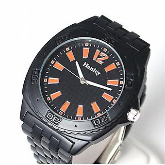 Henley Gents Jumbo Black & Orange Sports Watch