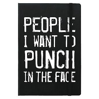 Grindstore People I Want To Punch In The Face A5 Hard Cover Notebook