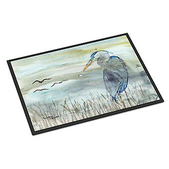 Blue Heron Watercolor Indoor or Outdoor Mat 24x36