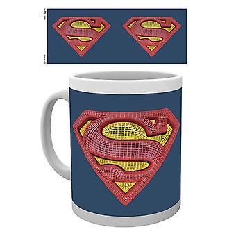 DC Comics Superman siatki Logo pudełkowej picia kubek