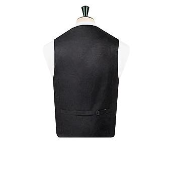 Dobell Mens Black Tuxedo Waistcoat Regular Fit Shawl Lapel