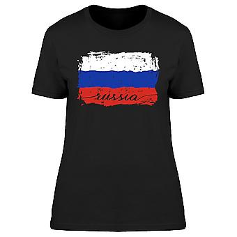 Russia Russian Painted Flag Tee Women's -Image by Shutterstock