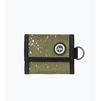 Hype Speckle Fade Trifold Wallet Holiday Money Coin Note Purse Khaki/White