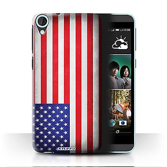 STUFF4 Case/Cover for HTC Desire 820s Dual/America/American/USA/Flags