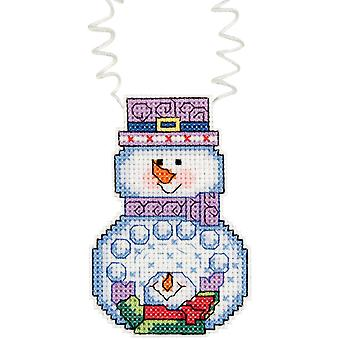 Holiday Wizzers Snowballs Counted Cross Stitch Kit 3
