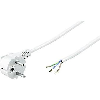 Current Cable [ PG plug - Cable, open-ended] White 1.50 m Goobay YC-A-8
