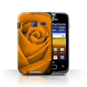 STUFF4 Case/Cover for Samsung Galaxy Y Duos/S6102/Orange/Rose