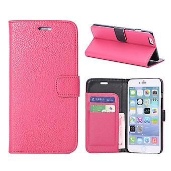 Dække type tegnebog med læder dør kort for iPhone 6 Plus 5,5