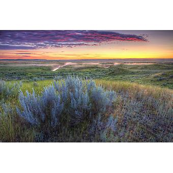 Sunrise over the Frenchman River Valley in Grasslands National Park Saskatchewan Canada PosterPrint