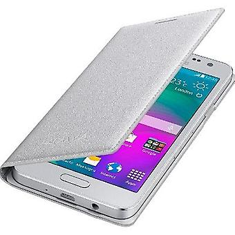 Samsung EF-FA300BSE flip cover for Galaxy A3 (not 2016) - silver
