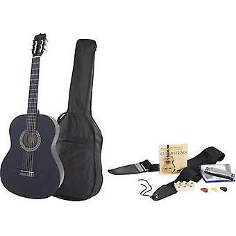 Classical guitar MSA Musikinstrumente 4/4 Black incl. gig bag