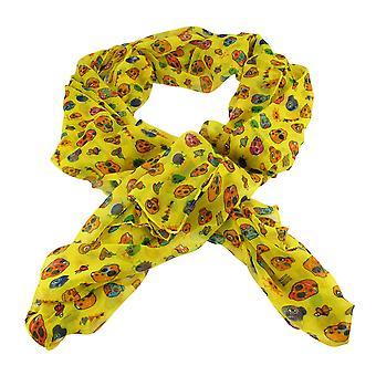Leichte Gaze liebenswert Schädel und Herzen Mode Schal