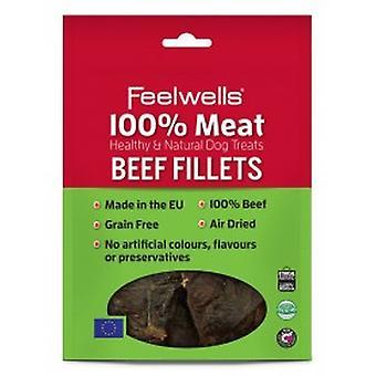 Feelwells 100% kød behandler okse filet 100g (pakke med 10)