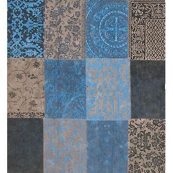 Glem Me ikke firkantet Patchwork tæppe Vintage - Louis De Poortere
